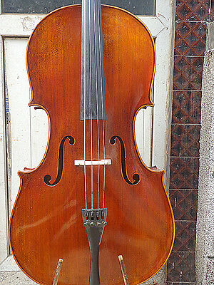 Master Cello 4/4 Size about 100 years old spruce top flamed maple back
