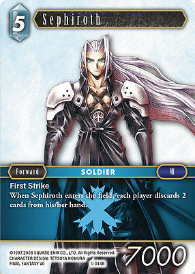 Sephiroth   -  1-044R RARE - NM - Final Fantasy TCG - OPUS 1