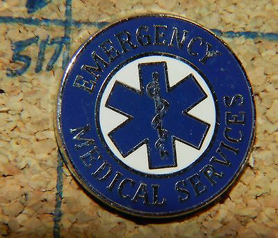 "Emergency Medical Services Ems Silvertone 3/4"" Metal Lapel Pin"