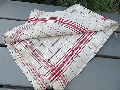 "German Thickly   Handwoven  Linen Towel Runner  Dish Cloth Never Used 29 "" by 34"
