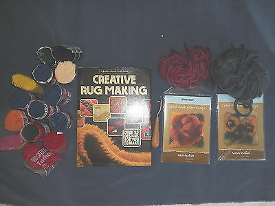 Rub Making Wool Patons Turkey & Riccarton + Book & Charts And Hook