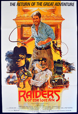 RAIDERS OF THE LOST ARK 1981 Harrison Ford, Karen Allen, Paul Freeman UK 1-SHEET