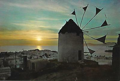 Mykonos - Sunset - Unposted Postcard