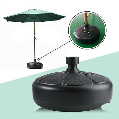 Plastic Outdoor Patio Garden Water Sand Fillable Umbrella Base Stand Holder DH