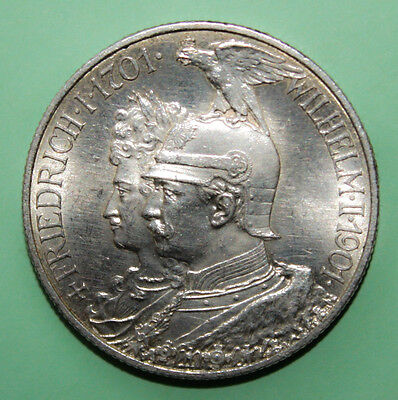 Germany 2 Mark 1901-A Brilliant Uncirculated Silver Coin - Kingdom of Prussia
