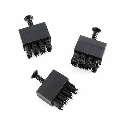3PCS Replace Brushes with Screw for Hostage Arrow Rest Archery Bow Black +Buckle