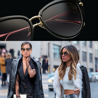 Womens Quality Designer Celebrity Fashion Ladies Cat Eye Sunglasses