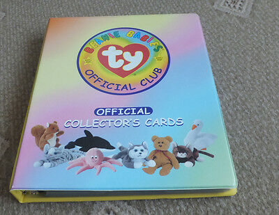 TY Beanie Babies Trading cards Series 1 Binder and 151 Cards