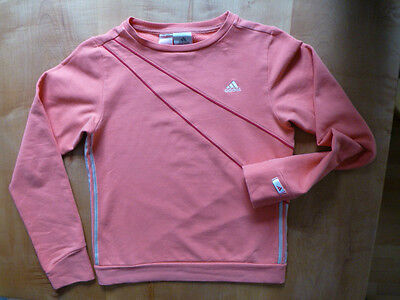 Adidas-Damen-Fitness-Freizeit-Sweatshirt-rotton-Gr.176=36/38