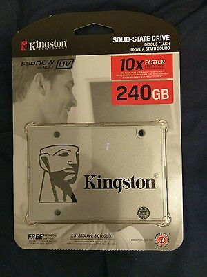 "Kingston UV400 240gb 2.5"" SSD, solid state hard drive SUV400S37/240G"