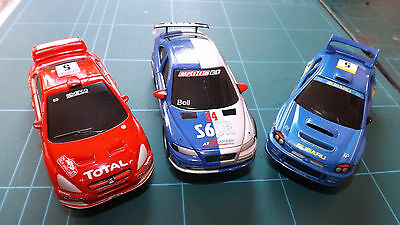 SCALEXTRIC Type 3 x CARRERA GO Small Scale Cars - Complete & Working !