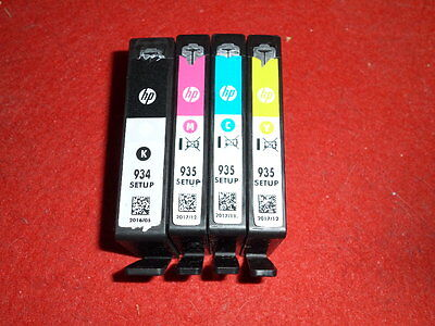 4 leere Original Drucker Patronen HP 934 / 935 Setup Black Cyan Mag Yellow leer