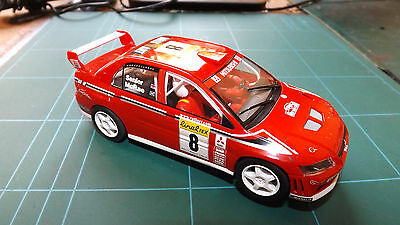 SCALEXTRIC MITSUBISHI LANCER WRC RALLY Car - With Lights !
