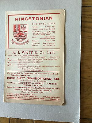 KINGSTONIAN v CORINTHIAN CASUALS 1961/2.