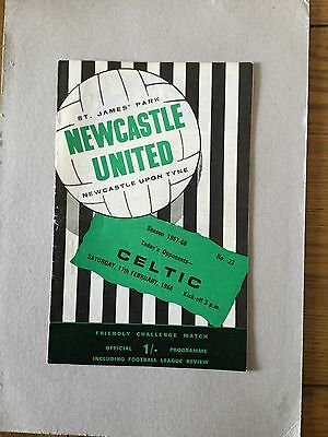 NEWCASTLE UNITED v CELTIC ( Fr ) 1967/8.