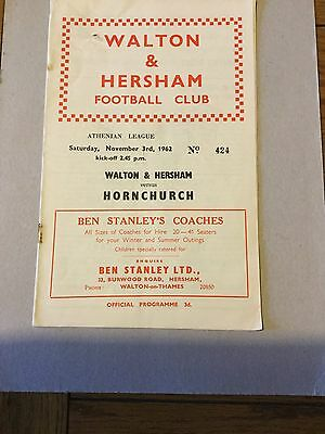 WALTON & HERSHAM v HORNCHURCH 1962/3.