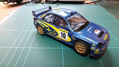 SCALEXTRIC SUBARU RALLY Car - With Lights !