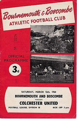 BOURNEMOUTH  v  COLCHESTER UNITED  1959/0.