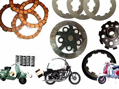 LAMBRETTA CLUTCH KIT  4 PLATES HOUSING FLANGE SPRINGS COEKS etc @CAD