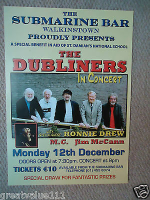 The Dubliners Gig Concert Poster Live At The Submarine Bar Charity Gig 2005 Mint