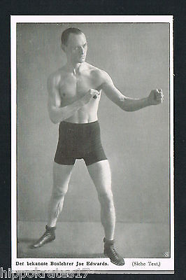 Boxlehrer Joe Edwards boxing instructor 1911 Bilddokument (58) antique print