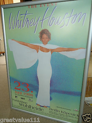 Whitney Houston Gig Poster1998 Original Invaluable Concert Poster Mint 18Yr Gem