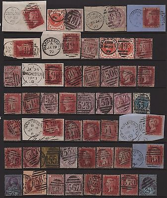Great Britain Numeral Cancel Lot of All Different