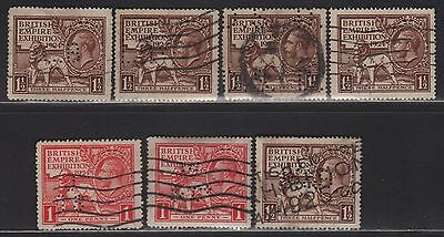 Great Britain Perfin Collection on 185-186 All Different Designs
