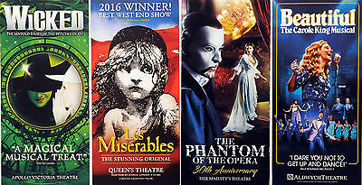 Wicked Musical Les Miserables Beautiful The Phantom Of The Opera Theatre Flyers