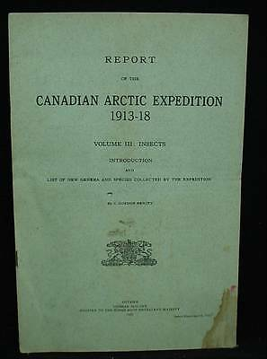 Canadian Arctic Expedition 1913-18 Vol III Insects Introduction New Species