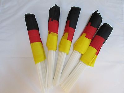 "12/50/100 X Germany / German 16"" Medium Size Hand Flags"
