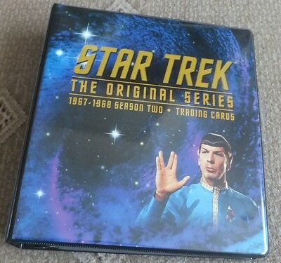 Star Trek TOS Season 2 Trading Cards Binder and Cards GOLD PLAQUES AND MORE