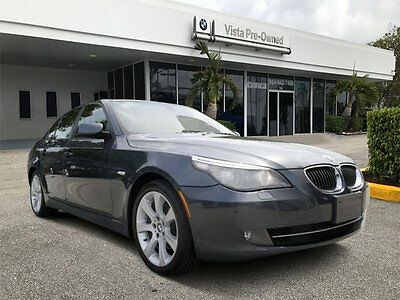 2008 BMW 5-Series Base Sedan 4-Door 2008 Sedan Used Turbocharged Gas I6 3.0L/182 AWD Gray
