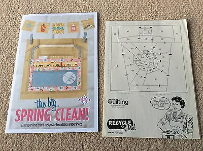 The Big Spring Clean - 8 designs to Foundation Paper Piece Booklet