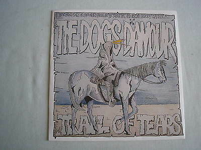 """THE DOGS D'AMOUR Trail Of Tears UK 7"""" single PS 1989 near mint"""