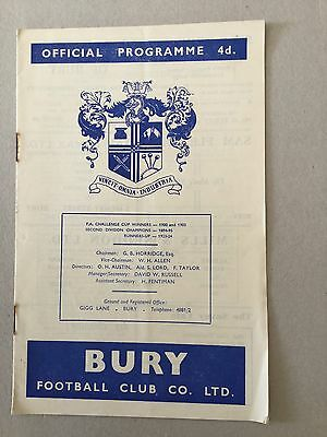 BURY v BRISTOL CITY 1960/1.