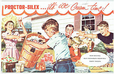 Proctor-Silex Ice Cream Maker Instruction and Recipe Booklet