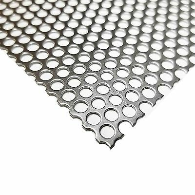 "Steel Perforated Sheet .030"" (22 ga.) x 12"" x 12"" - 3/16 Holes - 1/4 Centers"