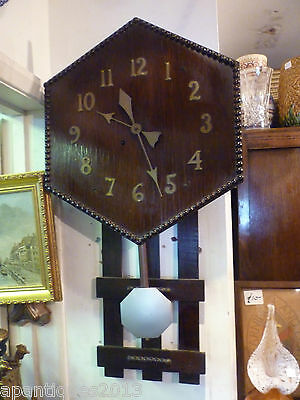 Unusual Arts+Crafts 8 Day Striking Wall Clock Runs For A While Then Stops