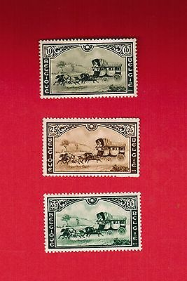 1935  # B16 to B168  VFNH TIMBRES BELGIQUE  BELGIUM  STAMPS  STAGECOACH