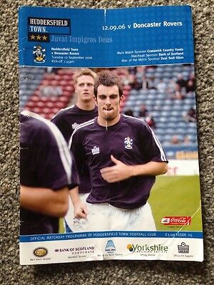 Huddersfield Town Programme V Doncaster Rovers 06/07