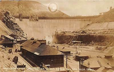 IDAHO, ARROWROCK DAM GOVERNMENT CONSTRUCTION WORKS, REAL PHOTO PC c. 1910-15