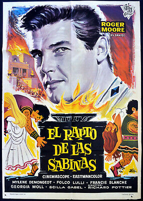ROMULUS AND THE SABINES 1961 Roger Moore, Mylène Demongeot SPANISH POSTER