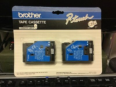 """Brother 1/2"""" (12mm) Black on Clear P-touch Tape for PT12, PT-12 Label Maker"""