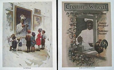 "Vintage 1986 Cream of Wheat ART Collection 6 Prints Folder 11""x14 1/2"" Reprints"