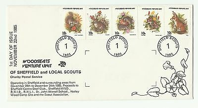 Gb 1985  Woodseats Venture Scouts  First Day Charity Cover