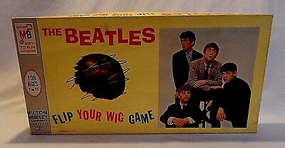 """Rare! 1964 Milton Bradley The Beatles """"flip Your Wig"""" Board Game Is Excellent!"""
