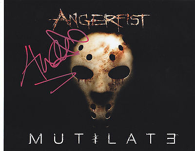 Angerfist Signed Autographed Techno Hardcore Edm 8X10 Photo Mutilate  Proof