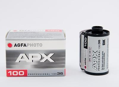 USD - 3 Rolls AGFA APX 100 35mm 135 36 exp Black and White Film B&W 2020/03