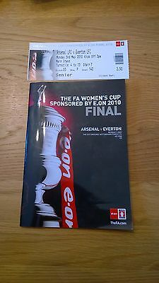 2010 Arsenal v Everton + Ticket - FA womens Cup Final